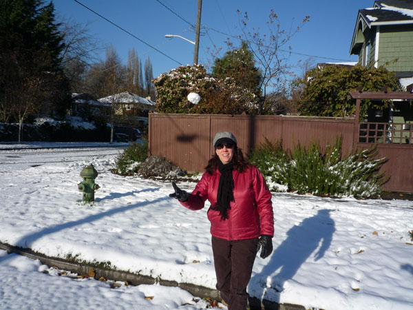 Anastasia, with snowball